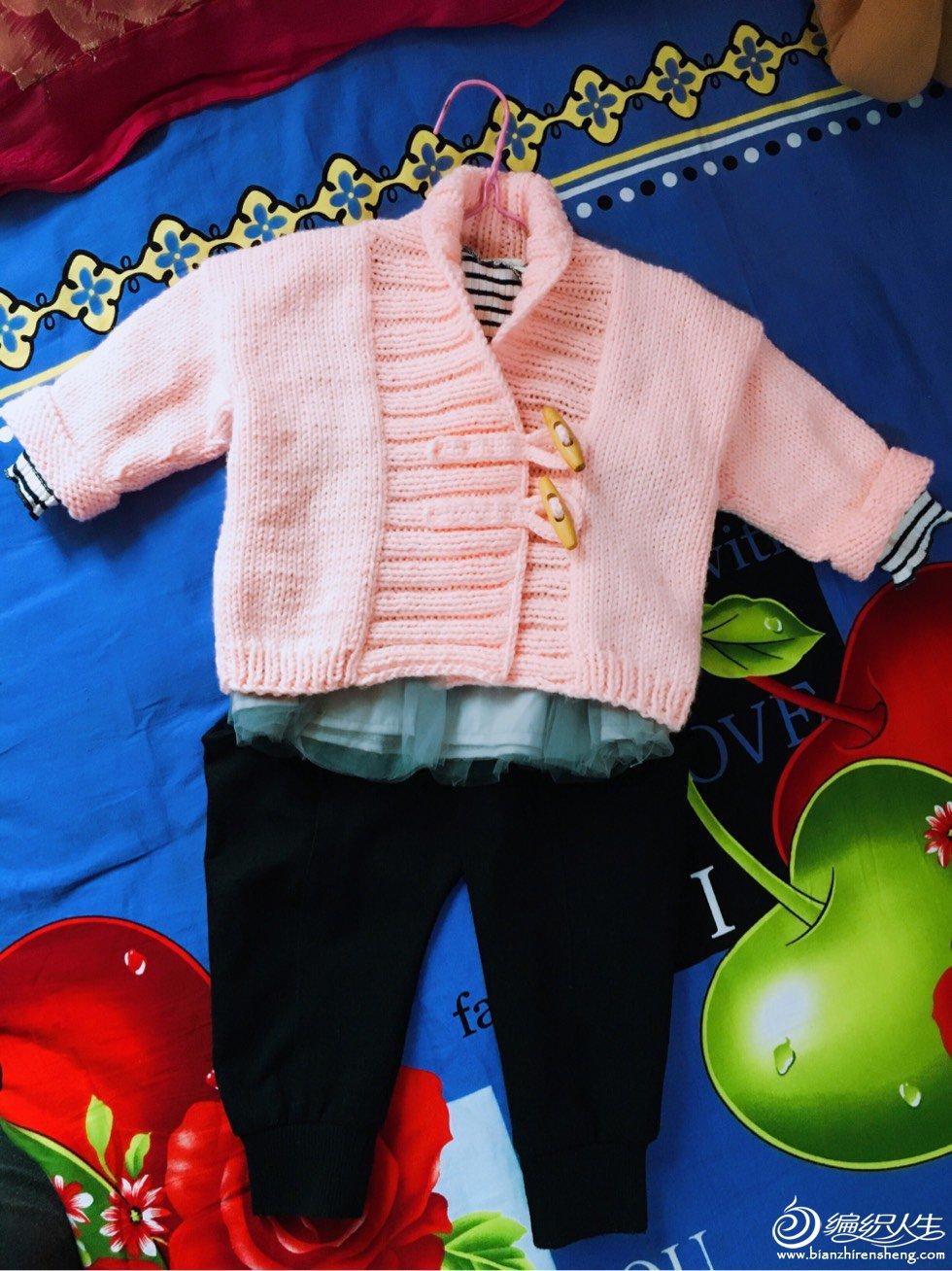 粗针织宝宝毛衣外套