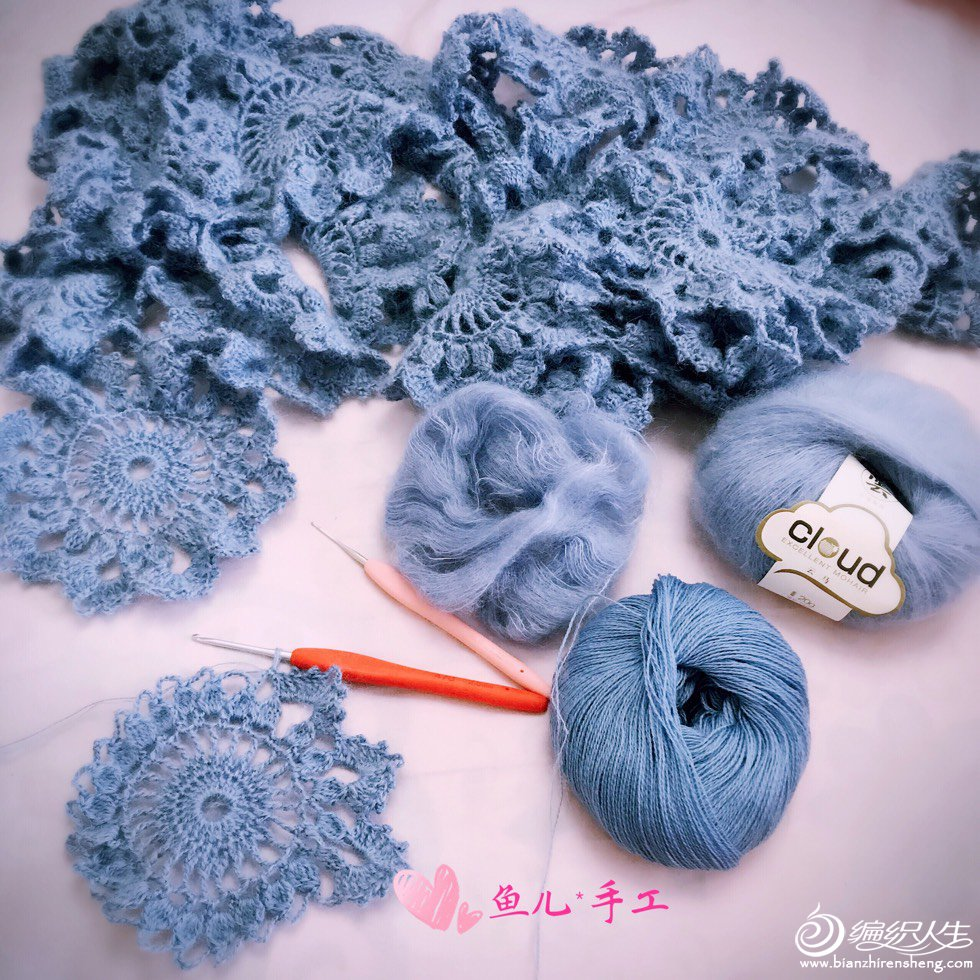 羊毛蕾丝毛线钩花