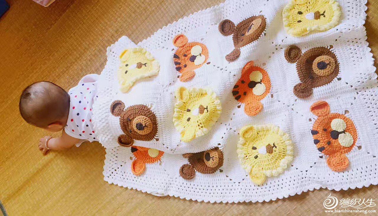 动物园钩针宝宝毯