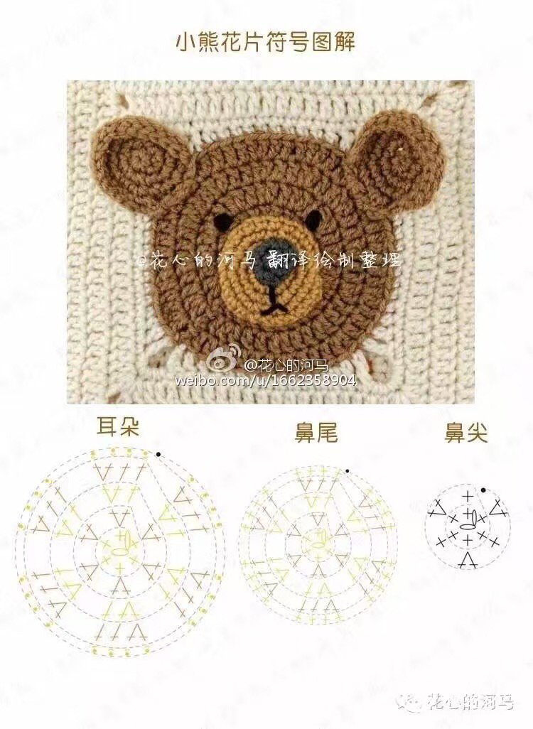 5股牛奶棉钩针编织动物园拼花毯