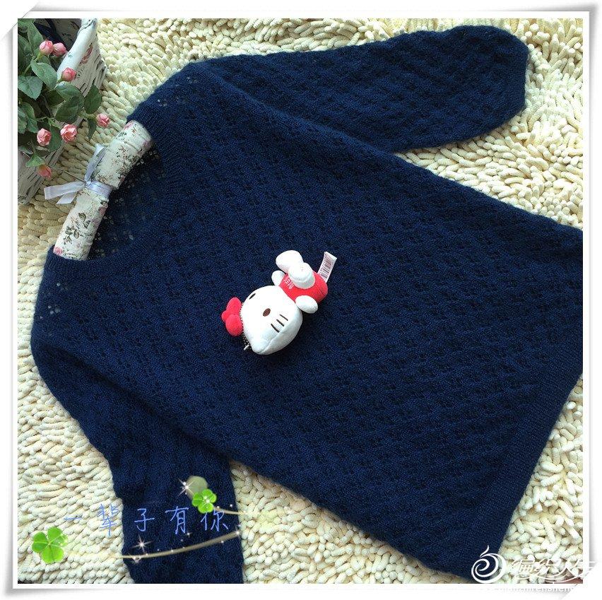 女士羊毛蕾丝套头毛衣