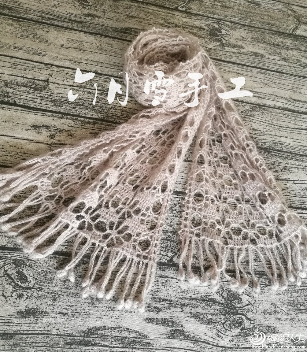 羊毛蕾丝钩针围巾