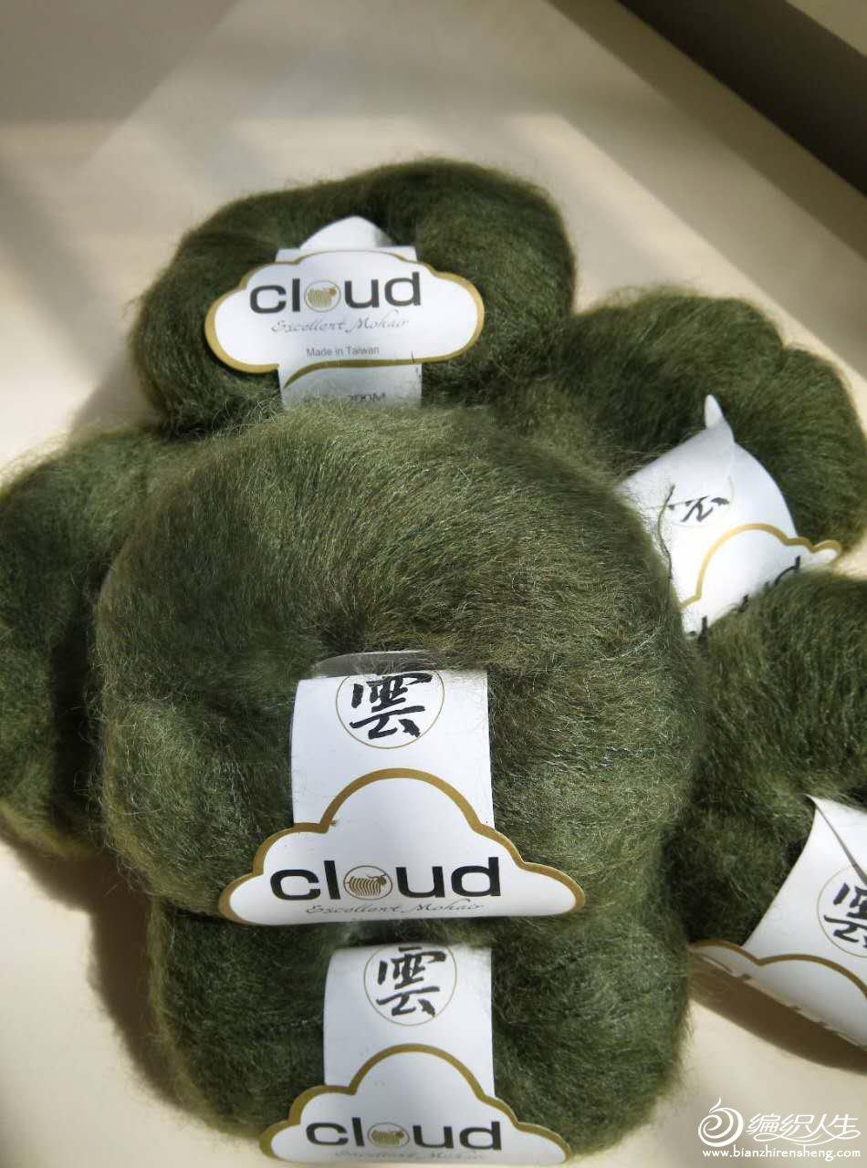 橄榄绿马海毛