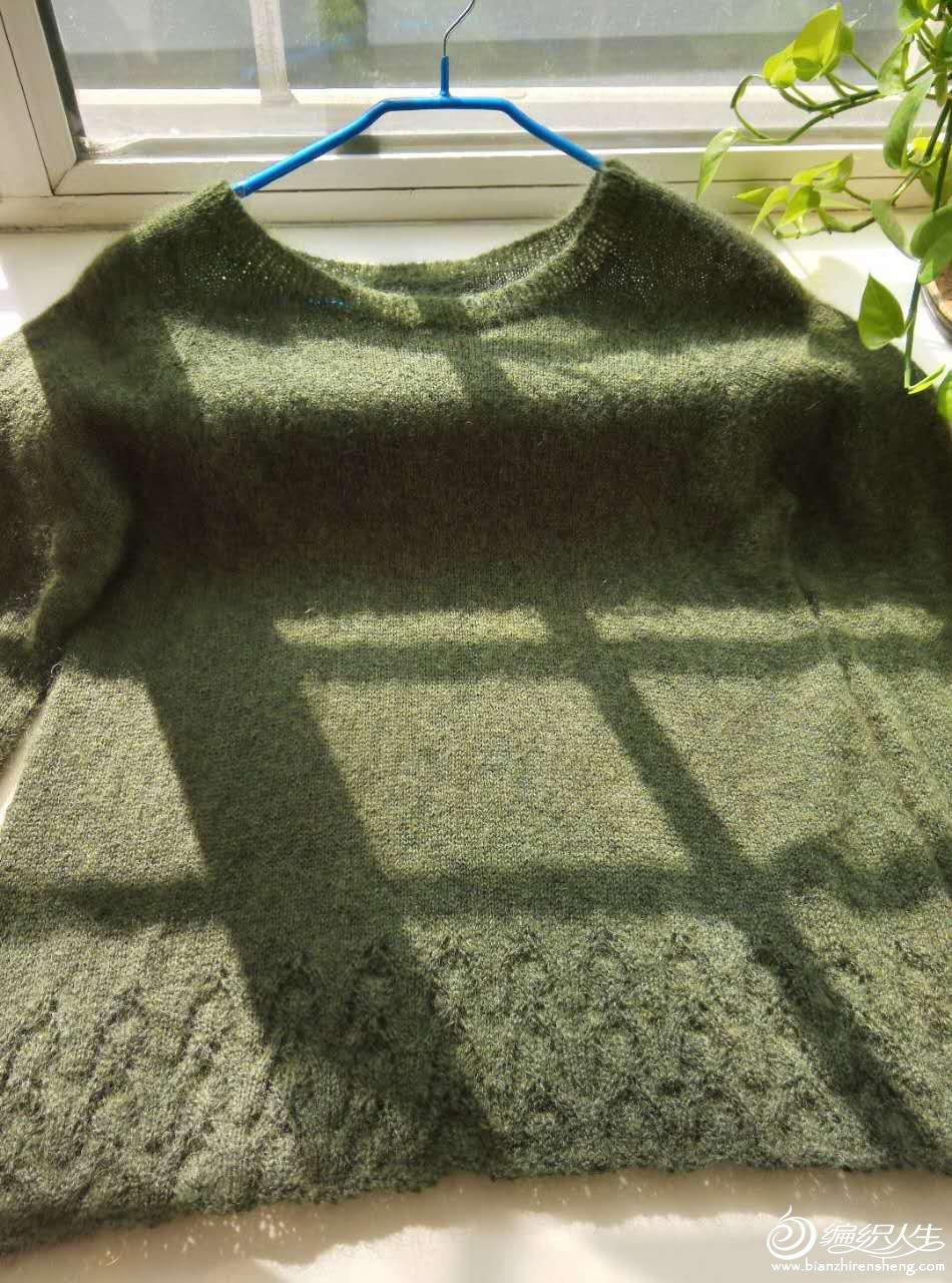 女士棒针细羊毛毛衣
