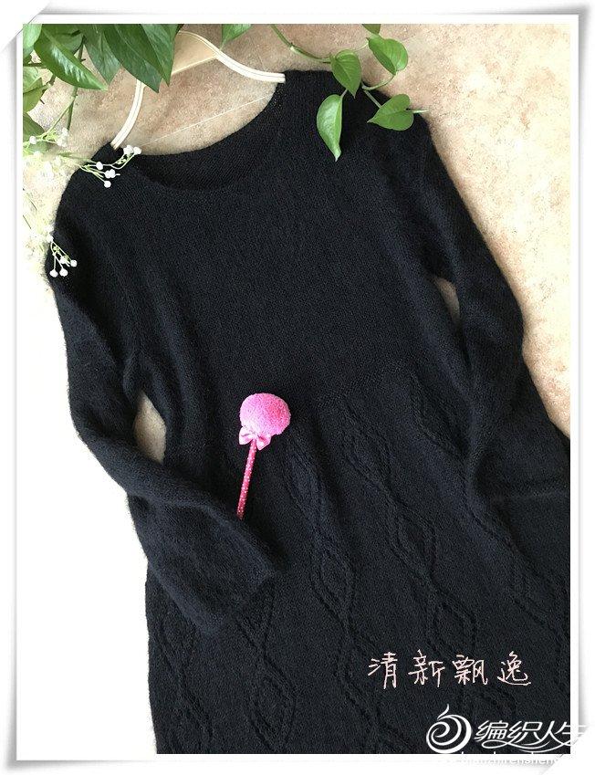 棒针羊毛长袖连衣裙