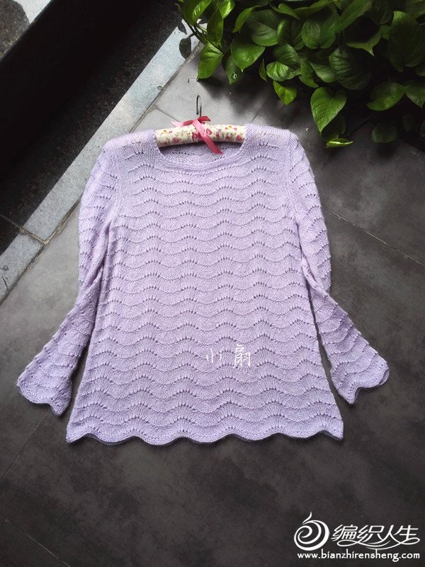 羊毛蕾丝棒针长袖