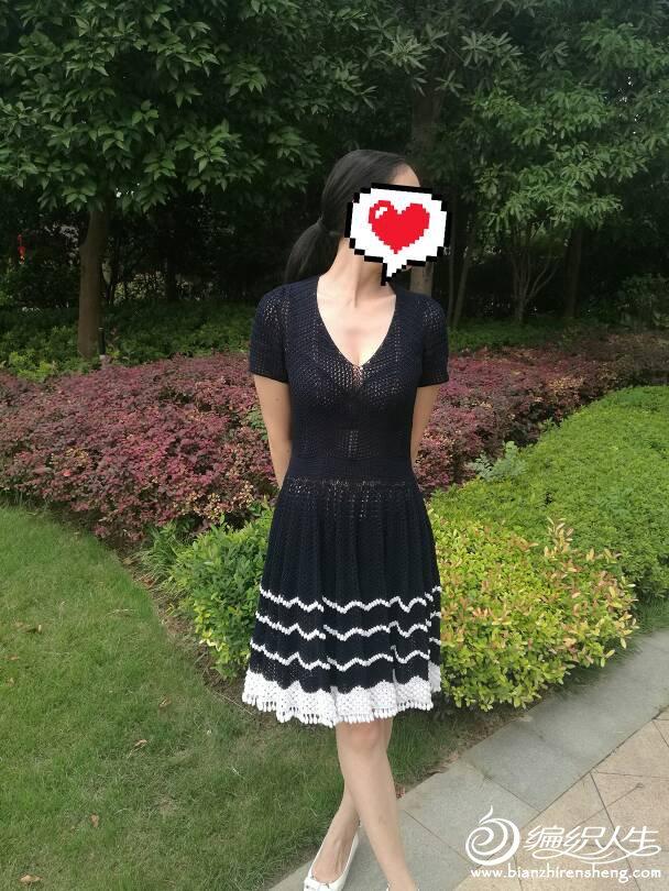 女士钩针大摆裙