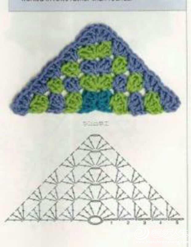 方格带袖斗篷  作品介绍: (儿童钩针披肩:祖母格斗篷+图解)在一个钩针