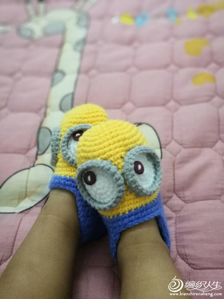小黄人宝宝钩鞋