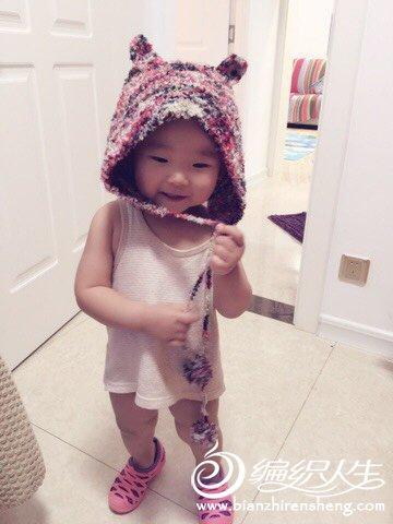 棒针宝宝小熊帽子