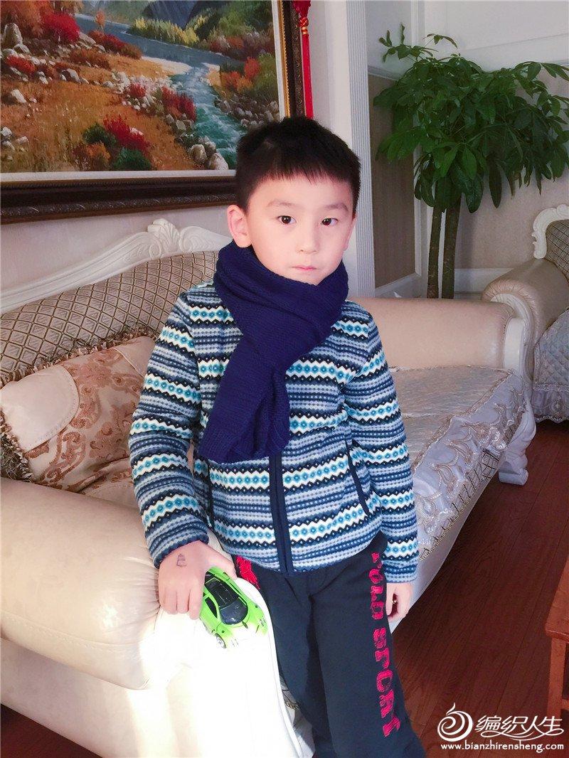 棒针儿童围巾