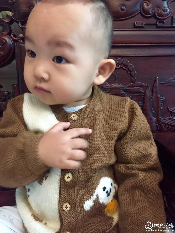 宝宝棒针开衫毛衣