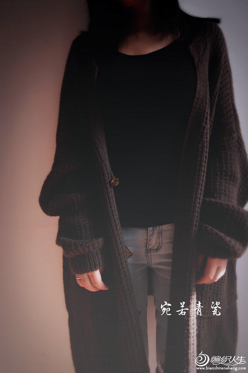 中长款棒针毛衣