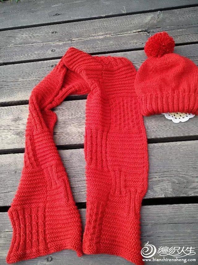 粗针织棒针围巾帽子