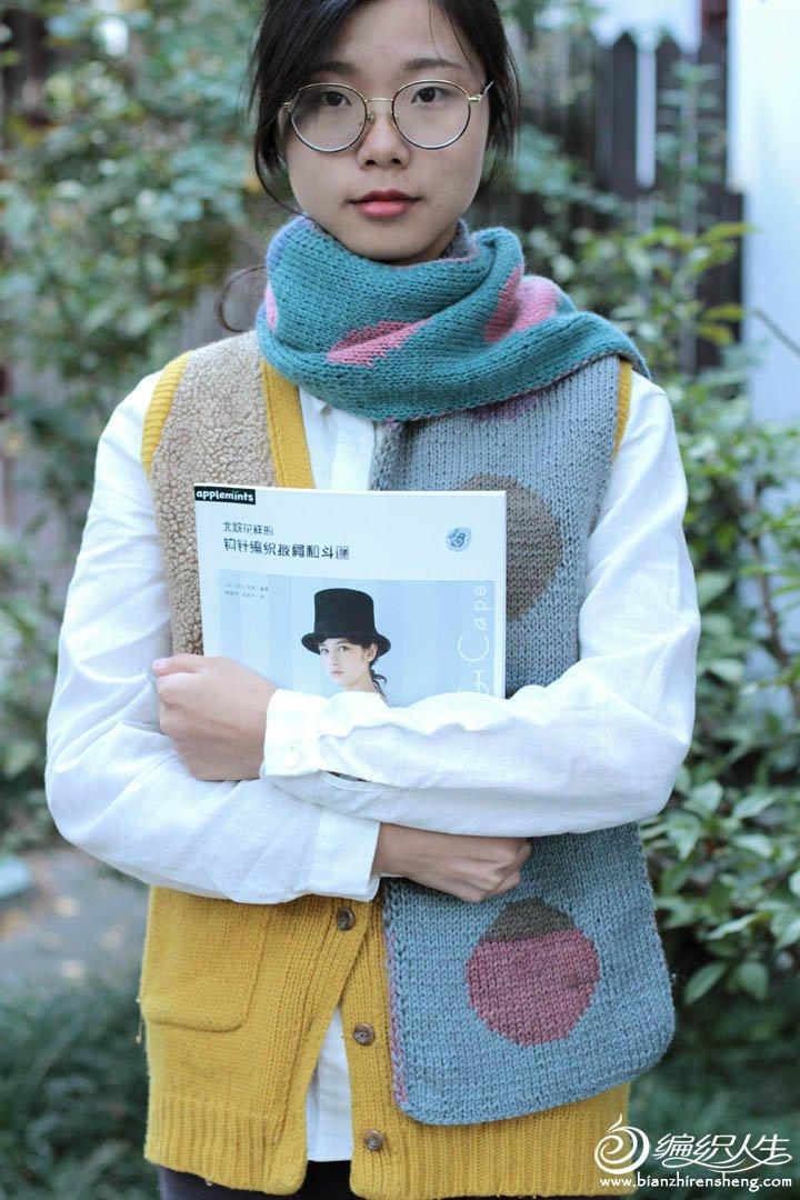 文艺复古毛线围巾