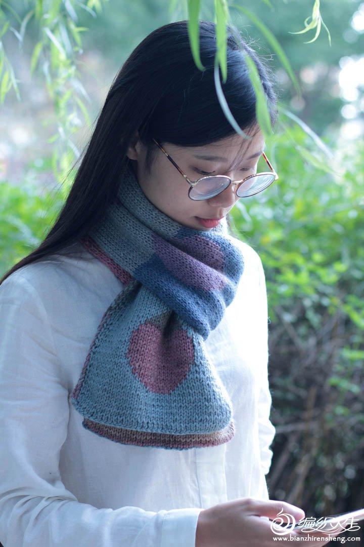 双面织平针围巾