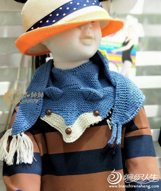 儿童棒针动物围巾