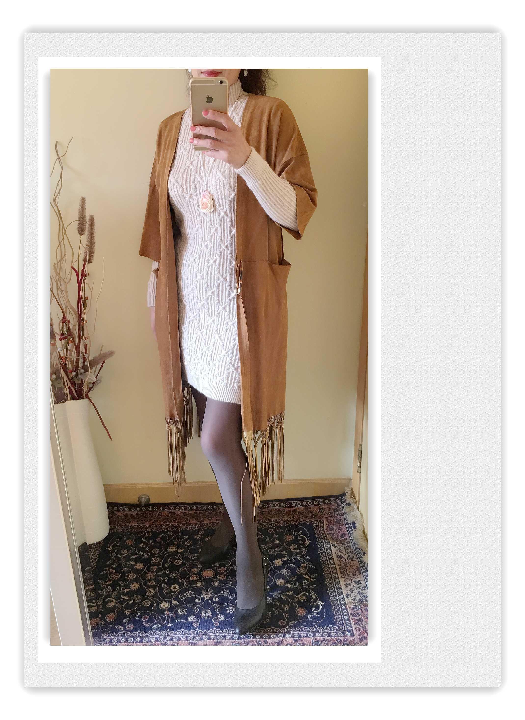 棒针羊毛裙