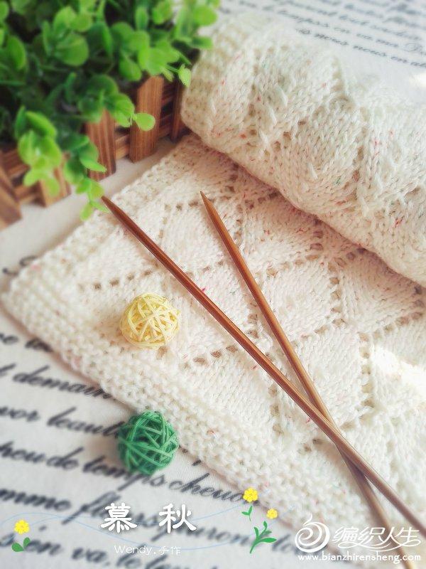 棒针镂空花围巾