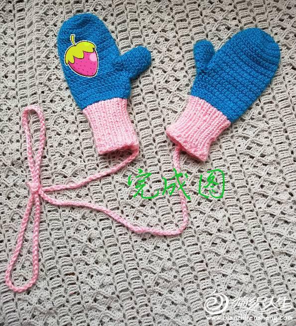 儿童钩针手套