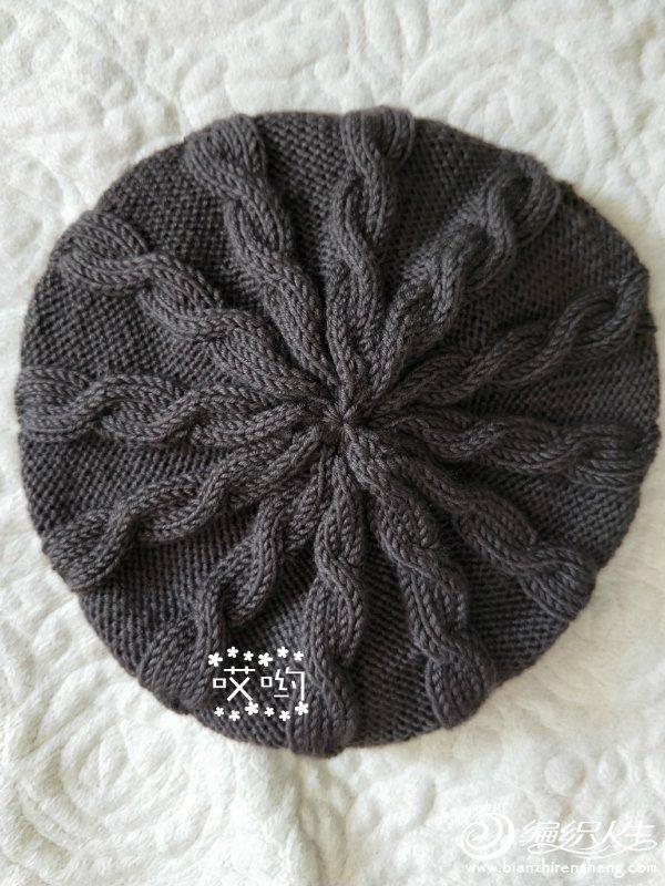 棒针毛线帽