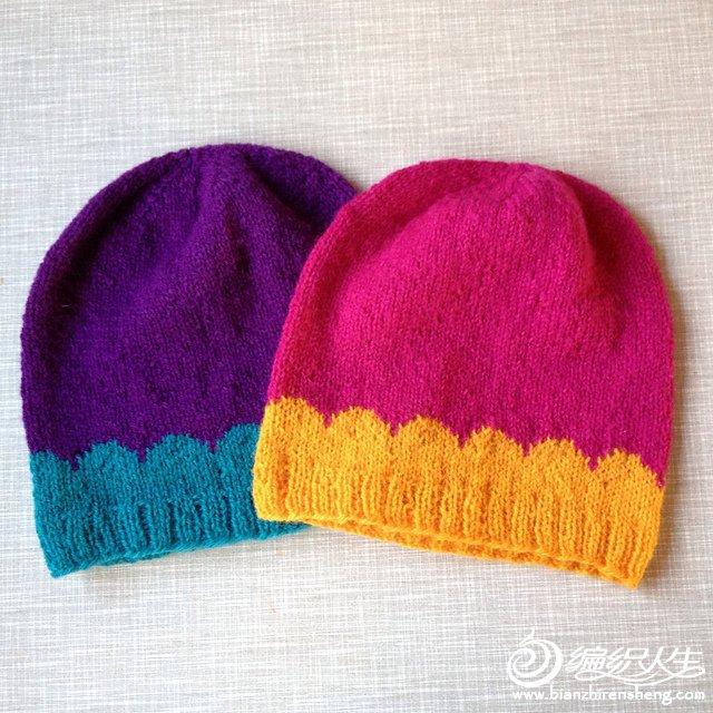 儿童彩色毛线帽
