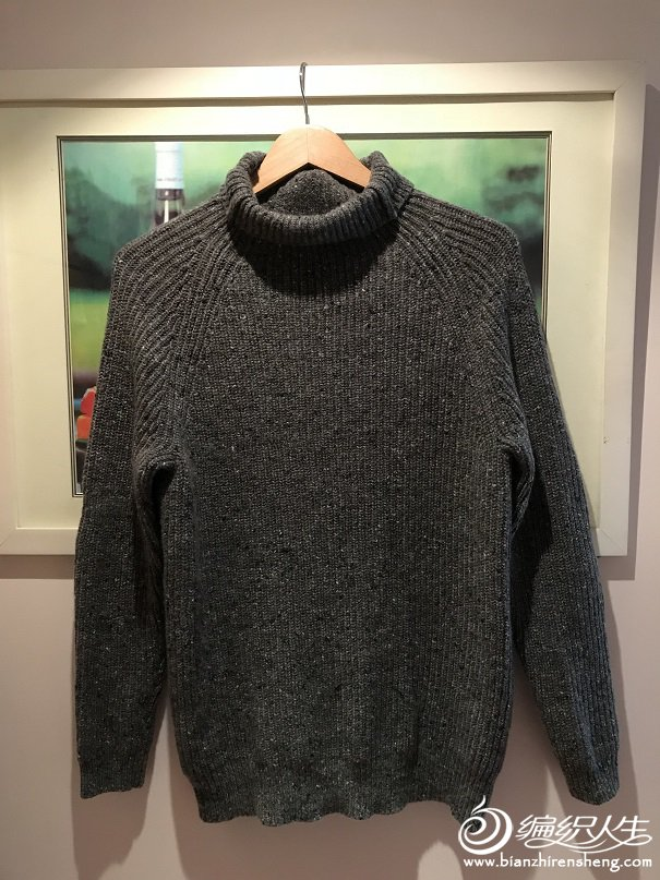 家用编织机织插肩毛衣款