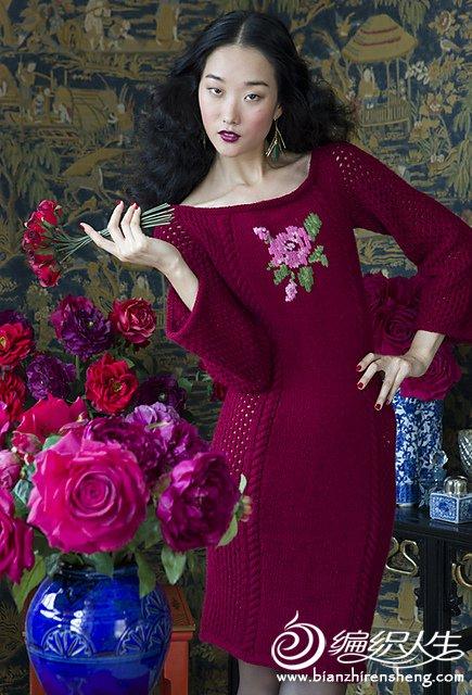 【引用译文】玫瑰玫瑰我爱你 VK玫瑰镂空连衣裙 - 壹一 - 壹一编织博客