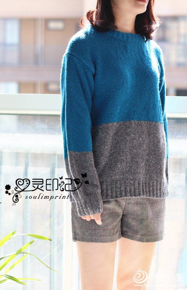 时尚手编棒针圈圈毛衣