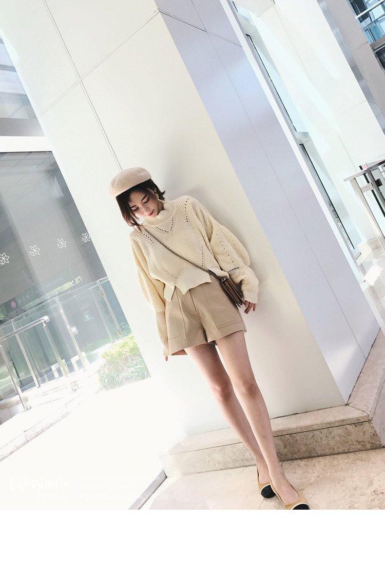 高腰款女士棒针毛衣