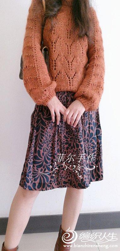 灯笼袖女士棒针毛衣