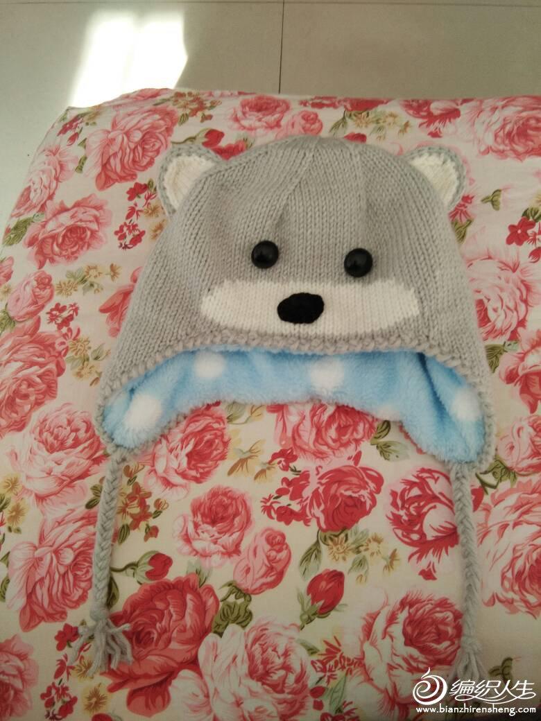 毛线编织宝宝护耳帽