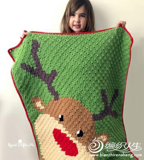 2017圣诞钩针毯