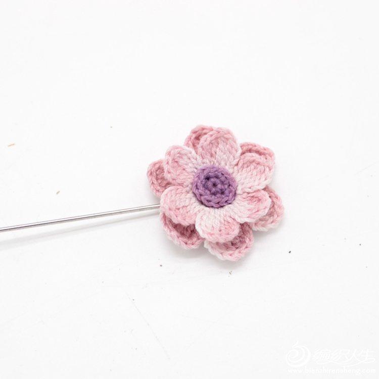 钩针立体小花