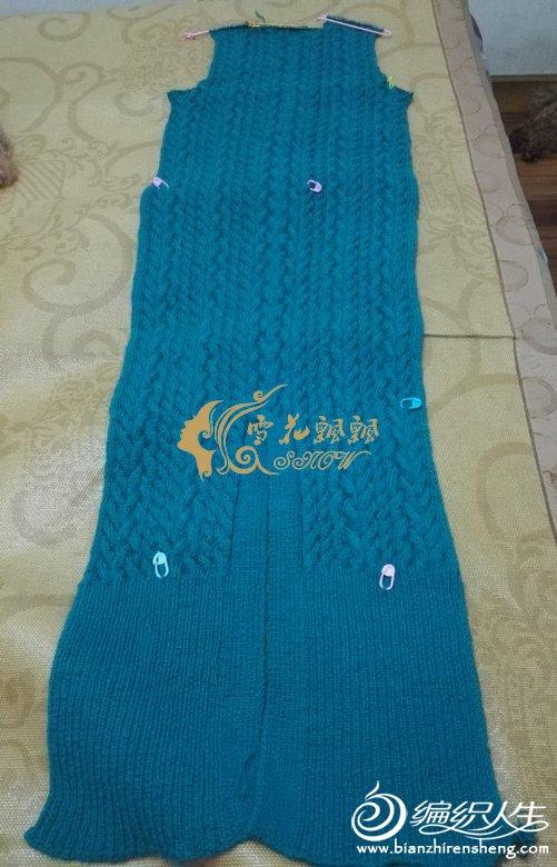 蓝孔雀 --长款连衣裙 - 壹一 - 壹一编织博客