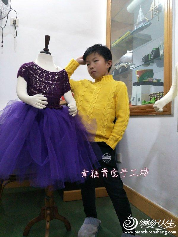 儿童棒针麻花毛衣
