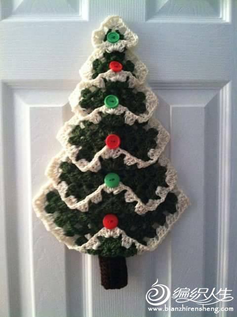 钩针圣诞树