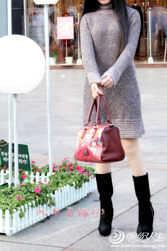 时尚手编连衣裙