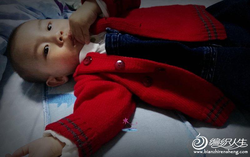 手工编织宝宝开衫毛衣
