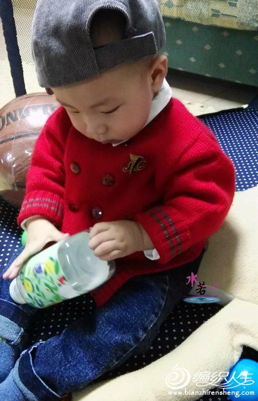 婴幼儿棒针双排扣开衫毛衣