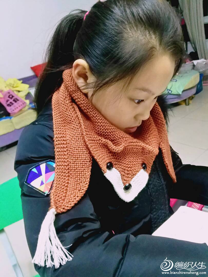 【引用教程】蓝云狐-狐狸围巾(图解文字+图解) - 壹一 - 壹一编织博客