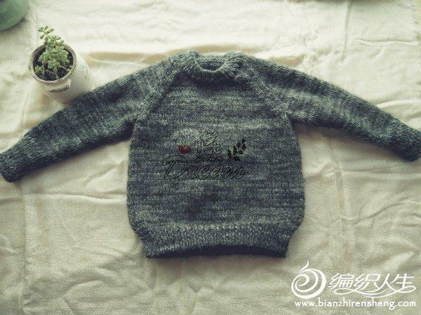 粗针织基本款儿童棒针毛衣