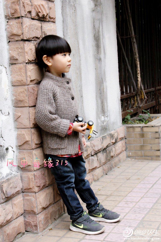 男童棒针外套毛衣