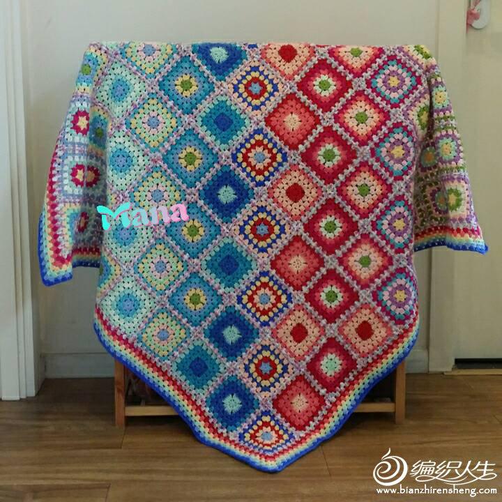 钩针拼花毯子