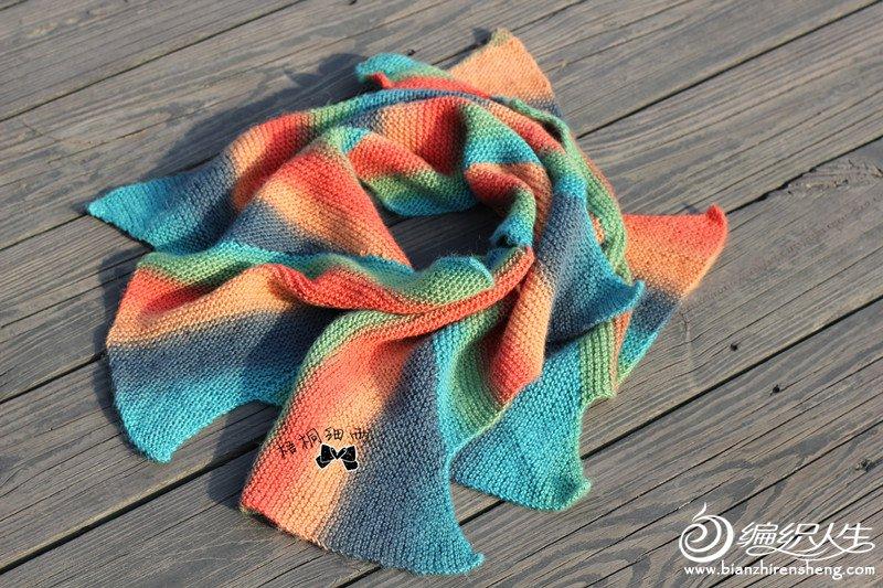 段染彩虹围巾