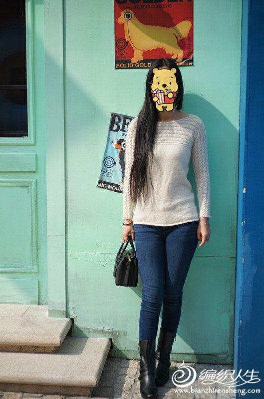 女士棒针长袖毛衣