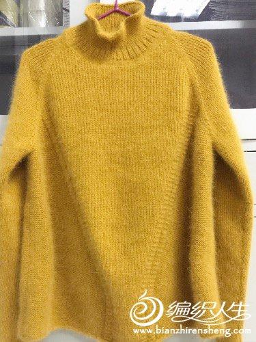 时尚棒针毛衣