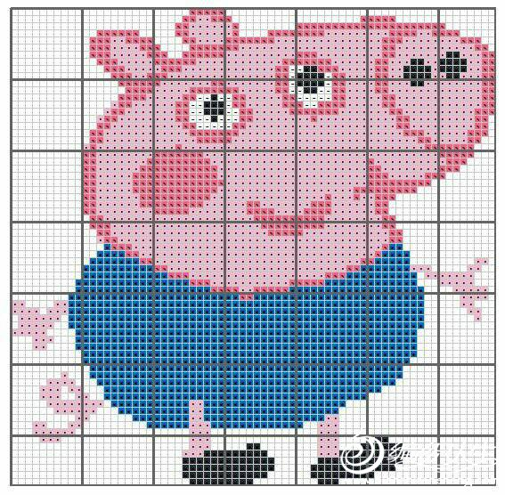 卡通毛衣图案小猪乔治