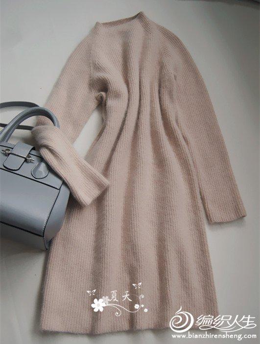 元宝针直筒连衣裙