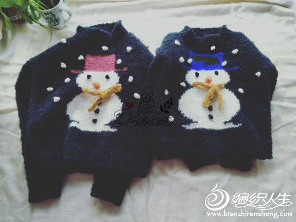 棒针雪人毛衣